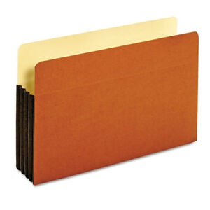 File Pocket With Tyvek Straight Cut 1 Pocket Legal Brown