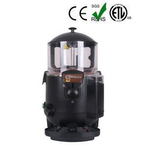Black 5l Hot Beverage Dispenser Chocolate Machine Chocofairy Ce 1000w Abs Body