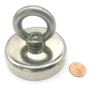 Hhoomy 350 Lbs Pulling Force 158kg Round Neodymium Magnet With Countersunk Hole