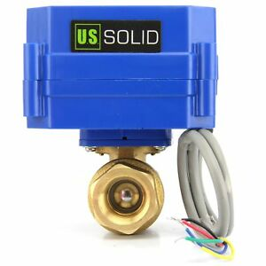 Motorized Ball Valve Brass Electrical Ball Valve With Standard 9 24v Dc