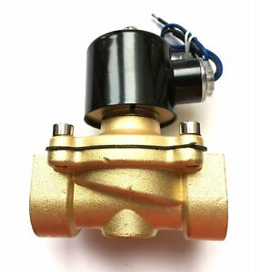 Akent 1 Ac110v Electric Solenoid Valve Npt Brass Normally Closed For Air