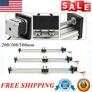 Linear Actuator Cnc Sliding Guide Slide Block W Stepping Motor 200 300 500mm Us