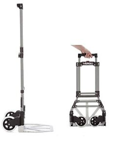 Vergo S300s Industrial Steel Folding Hand Truck Dolly 150 Lb Capacity Silver