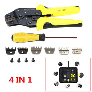 4in 1 Professional Wire Crimper Pliers Ratcheting Terminal Crimping Tool For Car