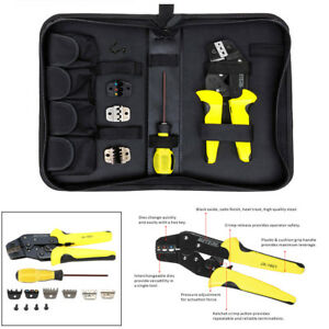 4 In 1 Wire Crimper Tools Kit Terminal Crimping Plier screwdriver end Terminals
