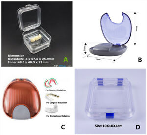 Denture Teeth Box case Orthodontic Invisalign Retainer Box case Jewelry Dental