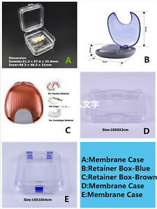 Orthodontic Invisalign Retainer Box Case Denture Membrane Case Jewelry Dental