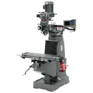 Jet 690286 Jtm 2 Mill With Acu rite Vue Dro With X axis Powerfeed