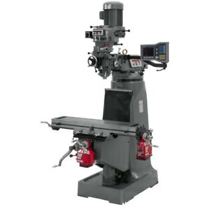 Jet 690285 Jtm 2 Mill With Acu rite Vue Dro With X And Y axis Powerfeeds