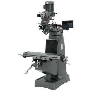 Jet 691197 Jtm 2 Mill With 3 axis Newall Dp700 Dro quill