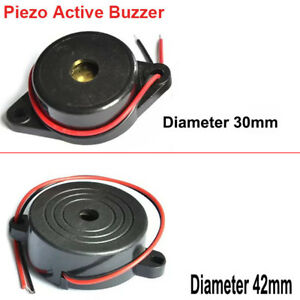 Diameter 30mm 42mm Height 16mm Piezo Active Buzzer Dc3 24v With Flying Leads