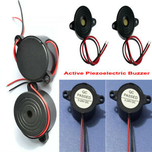 Diameter 23 42mm Active Piezoelectric Buzzer Dc3 24v Long Continous Beep Tone