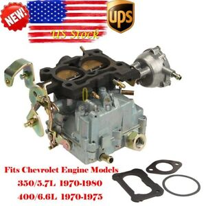2 Barrel Carburetor Fits Rochester 2gc Chevrolet Engines 5 7l 350 6 6l 400 Carb