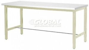 60 w X 30 d Production Workbench Esd Laminate Square Edge Tan