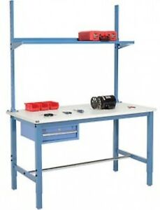 60 w X 36 d Production Workbench Esd Laminate Square Edge With Drawer And