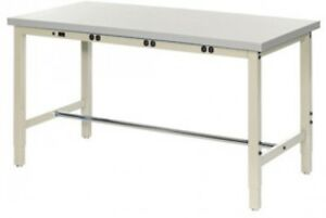 72 w X 30 d Production Workbench With Power Apron Esd Laminate Square Edge