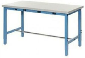96 w X 36 d Production Workbench With Power Apron Plastic Laminate Square