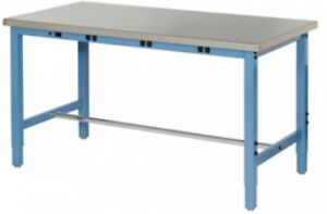 72 w X 30 d Production Workbench With Power Apron Stainless Steel Square Edge