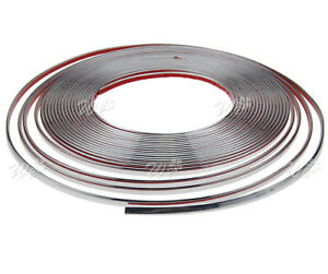 6mm X 49ft Chrome Styling Moulding Trim Strip For Cars Vans Vehicles