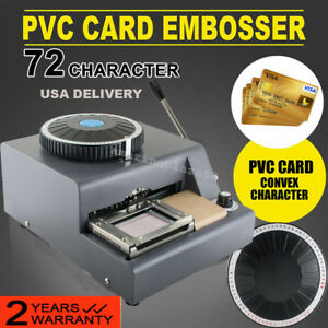 72 character Manual Stamping Machine Pvc id credit Card Embosser Code Printer