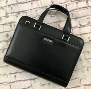 Classic 7 Ring Black Durable Leather Franklin Covey Planner binder