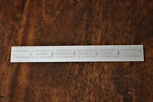 Starrett C604re 6 Spring Tempered Steel Rule With Inch Graduations 6 Length 3