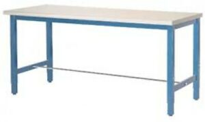 96 w X 36 d Production Workbench Esd Laminate Square Edge Blue