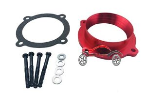 Red Throttle Body Spacer Fit 11 14 Jeep Grand Cherokee 12 17 Jeep Wrangler 3 6l
