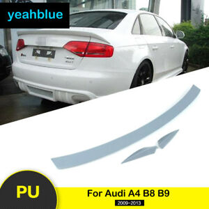 Rear Boot Trunk Spoiler Tail Wing Primed Unpainted Pu Abt For Audi A4 B8 B9