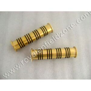 Handle Grips Brass With Rubber O Ring For Royal Enfield Bikes