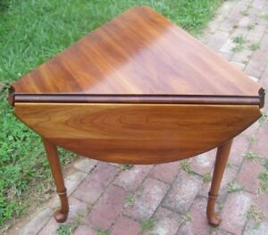 Statton Centennial Solid Cherry Drop Leaf Table Accent Table Queen Anne Style