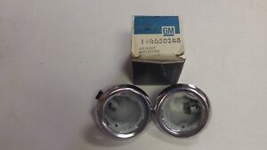 Nos Gm 55 57 Chevy Nomad 61 70 Wagon Pair Dome Light Housing Bezels Kingswood