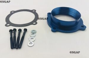Blue Throttle Body Spacer Fit 11 14 Jeep Grand Cherokee 12 17 Jeep Wrangler 3 6l