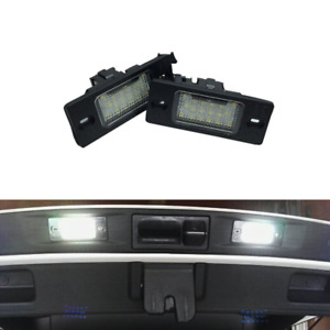 Smd Can bus White Led Number License Plate Light Lamp For Skoda Fabia Mk1 6y