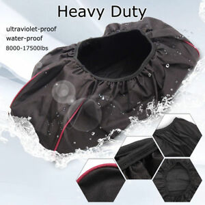Black 600d Soft Waterproof Winch Dust Cover Driver Recovery Oxford Textile Bag