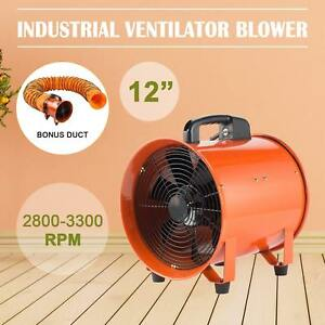12 Extractor Fan Blower Portable 5m Duct Hose Telescopic Electrical Ventilation