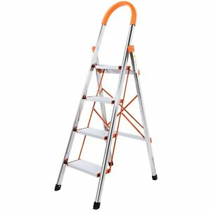 Lifewit 4 step Stool Ladder Portable Folding Anti slip With Rubber Hand Grip