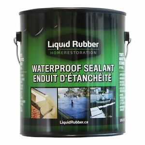 Liquid Rubber Waterproof Sealant coating 1 Gallon Original Black