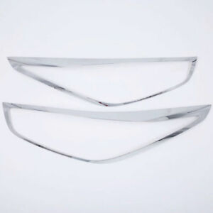 For Hyundai Verna Accent Solaris 2018 Chrome Front Head Light Lamp Cover Trim 2p