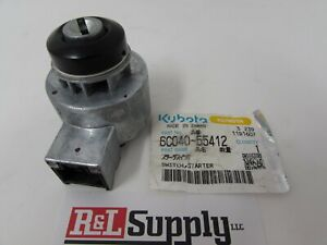 New Genuine Kubota Ignition Switch Part 6c040 55412