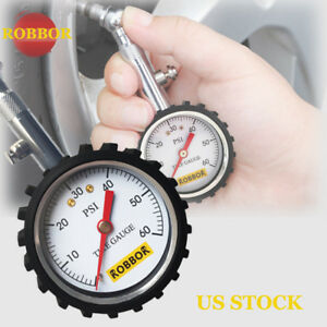 Flexible Hose Truck Car Tire Pressure Gauge 0 60 Ps New Car Air Meter Tester