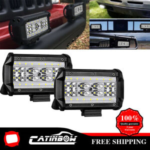 5 168w Led Work Light Bar Flood Combo Pods Row Driving Off road Tractor 4wd 12v
