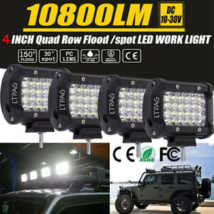 4x 5 Inch 288w Cree Led Off Road Work Light Spot Beam Driving Fog Lights Lamps