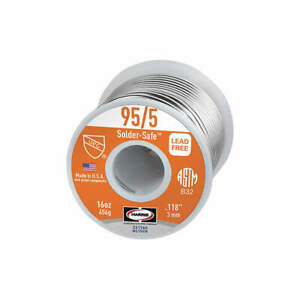 Worthington Solid Wire Solder dia 0 118 In 1lb 331760