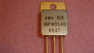 New 1pc Ir Irfm9140 Ic Trans Mosfet P ch 100v 18a 3 pin To 254aa Gold Transistor