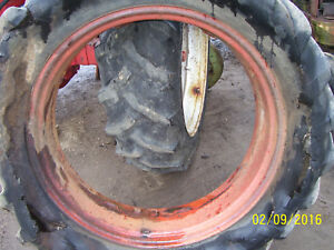 Vintage Oliver 77 D Row Crop Tractor rear Wheel 11 X 38 1952