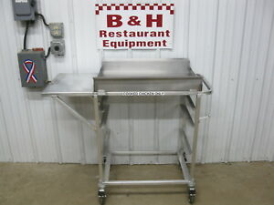 Stainless Steel Top Fried Chicken Fish Fryer Dump Station Landing Table