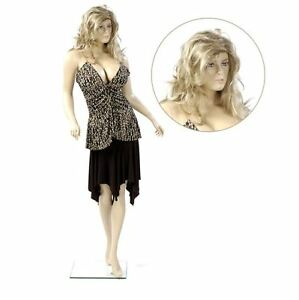 New Female Abstract Fleshtone Mannequin Well Endowed With Realistic Wig