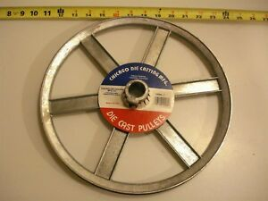 0472 Die Cast Pulley 12 Dia 1 Bore V belt A 6 spokes