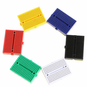 1 100 X Syb 170 Mini Solderless Breadboard With Buckle Test Panel Spliced Board